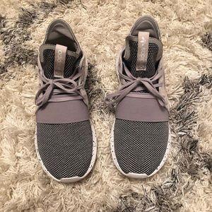 Woman's Adidas Tubular sneakers, size 7.5. Gray